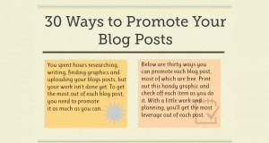 30 Unique Ways to Promote Your Blog Posts