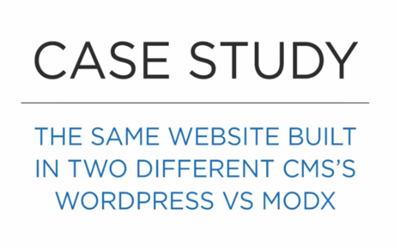 MODx vs WordPress
