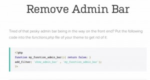 How to Remove Admin Bar in Wordpress
