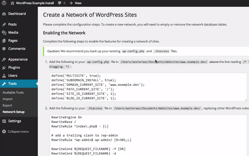How to Setup Wordpress Multisite